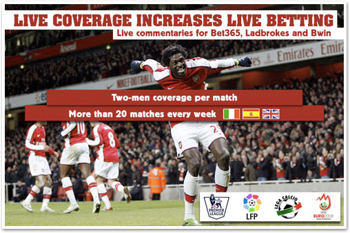 Live coverage increases live betting