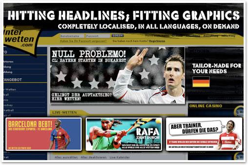 Hitting headlines, fitting graphics - interwetten.com