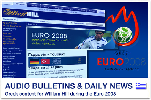 Audio bulletins & daily news for William Hill